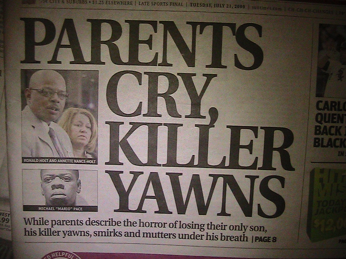 Teen killer yawns